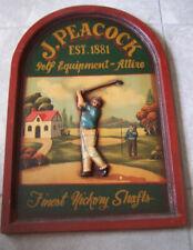 Classic Golf Sign J. Peacock Antique Advertising Golf Equipment