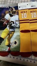 For Bare Feet FBF Socks NFL Jersey - ROBERT GRIFFIN III #10 Size LARGE