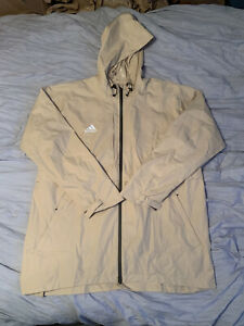 Adidas Game Mode Zip Up Jacket Mens XL All Weather Tan NWT
