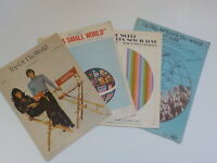 "Vinatge 1960s piano sheet music set of (4) ""It's a Small World,"" ""Top of the Wor"