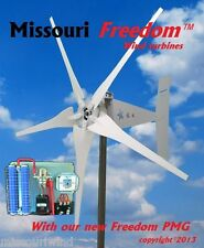 Wind turbine generator kit Missouri Freedom 12 volt 1700 watt 5 blade turbine