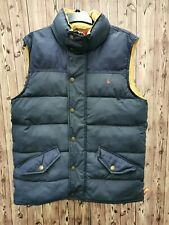 Joules men's waistcoat/vest/gillet quilted blue polyester size M Team GB