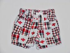 """Gymboree """"Beach Crawler"""" Red Lobster Red White Blue Patchwork Shorts, 6-12 mos."""