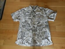 COLUMBIA SPORTSWEAR CO. BROWN & WHITE SHORT SLEEVE BUTTON FRONT SHIRT SIZE LARGE