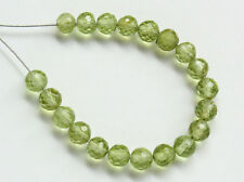 AA Natural Green Peridot Faceted Round Ball Semi Precious Gemstone Beads 3.5mm.