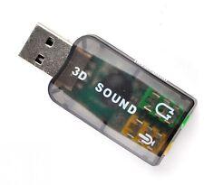 3D SOUND virtual 5.1 Usb standard /microphone et écouteur connecter jacks 3.5mm