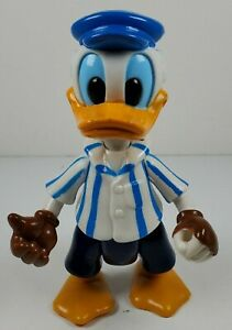 """Disney Donald Duck Speed Boat Driver 4.5"""" Tall Children's Toy Action Figure Arco"""