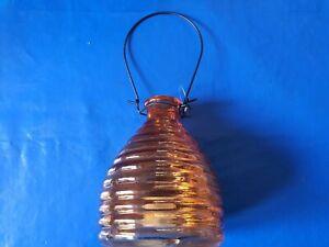 Wespenfalle aus Glas orange, Bienenkorb Machart ,siehe Fotos