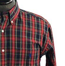 Ralph Lauren Blair Red Blue Green Plaid Long Sleeve Button Down Shirt Sz Medium