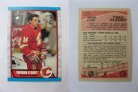 1989-90 OPC O-Pee-Chee #232 Fleury Theo  RC Rookie  flames