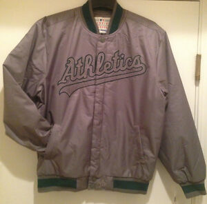 Oakland A's  Polyester Jacket with Embroidered Logos by JH Design - MLB