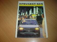 CATALOGUE Peugeot 505 de 1986 de 6 pages