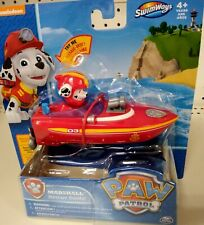 """🐾🐕NEW Paw Patrol MARSHALL RESCUE BOAT 4"""" Water Bath Wind up FAST SHIP🐾🐕"""