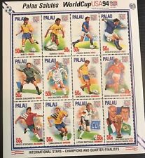 Palau- 1994 World Cup USA Stamp- Sheetlet of 12 Stamps