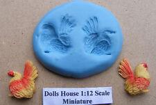 Moule SILICONE POULET oiseaux, Moule, carte bijoux Sugarcraft topper sécurité alimentaire