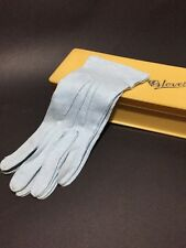 Vintage Late 40s Early 50s Pale Blue Cotton Gloves NWOT