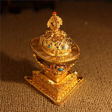 WHOLESALE! TIBETAN BLESSED 6.5X10CM GOLD GILT COPPER Gabbra Kapala