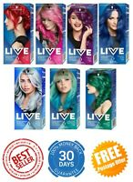Schwarzkopf Live Hair Dye Intense Colour Permanent Semi-Permanent VariousColours