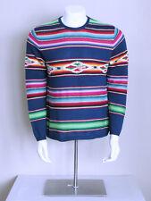 vtg 90s boho POLO indian southwest SERAPE native silk aztec RALPH LAUREN shirt L