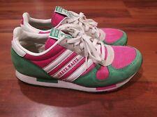 Vtg 2006 Adidas Grete Waitz Womens Athletic Running Shoes Pink Green White Siz 5