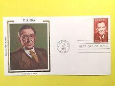 """1986 USPS #2239 22c  T.S. Eliot  Colorano """"Silk"""" FDC"""