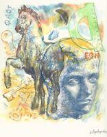 Jannis PSYCHOPEDIS - RARE - Very Small Open Edition Giclee Print - Greek 2010