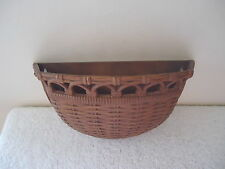 """Vintage Homco Wall Mount Woven Basket Themed Flower Holder """" Beautiful Item """""""