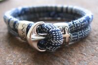 Ethno Armband Herren Damen bunt Sailor blau weiß Bracelet Anker Pulsera Mexiko