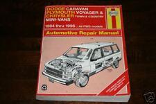 Reparaturanleitung Chrysler Voyager 1984 - 95
