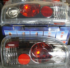 Tail Lights Euro Style Black Chrome, Ford F250 1999 - 2004