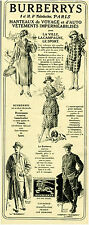 Publicité ancienne vêtements Burberrys 1920 issue de magazine