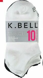SALE! K. Bell Ladies' No Show Fit Socks 10-pair | Extended Sizes | C42
