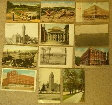 Post Card Greetings 1 cent Stamp Lot Historic Buildings Baptist Various States