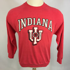 Vintage 80s Paper Thin Distressed Iu Indiana Basketball Sweatshirt Bobby Knight