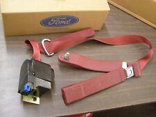 NOS OEM Ford 1984 1989 Econoline Van Front Seat Belt RH 1985 1986 1987 1988 Red