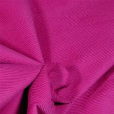 Superb Quality Med. Weight, Solid Raspberry Corduroy Standard Wale Cotton Fabric