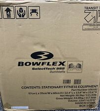 *IN HAND READY TO SHIP* NEW Bowflex SelectTech 552 PAIR Adjustable Dumbbell Set