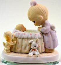 Precious Moments LOOKING OVER SLEEPING BABY IN BASSINET 891738 NIB