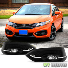 For 2014-2015 Honda Civic Coupe 2Dr Fog Lights Bumper Lamps w/Switch+Bulbs 14-15