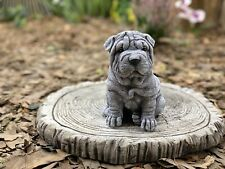 Shar Pei Figur Faltenhund 55cm lebensecht FIGUR Deko  lebensecht NEU HOTANT