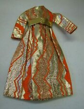 Vtg Barbie Doll Mattel #1494 GOLDSWINGER Orange Gold Metallic Evening Coat Belt