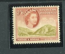 Southern Rhodesia QEII 1953 2s6d yellow-olive & olive-brown SG88 MNH