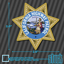 "SMALL California Highway Patrol Seal - 2"" - vinyl decal sticker chips chp yeti"