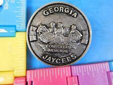 Jaycees Georgia Confederate Memorial  Pewter Pin Vintage Jaycee Lapel