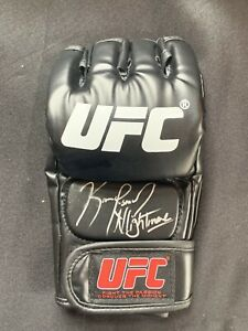 "KAMARU USMAN Autographed UFC Glove w/""THE NIGHTMARE"" Inscription"