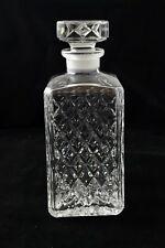 Crystal Art Glass Vintage Decanter Carafe For Whiskey