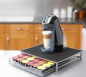Supporto Macchina Da Caffè e Cassetto Estraibile Porta Cialde Nespresso