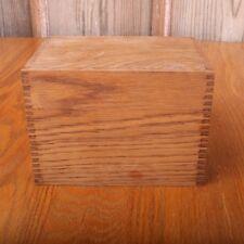 Brown Wood Recipe Box Hinged Lid