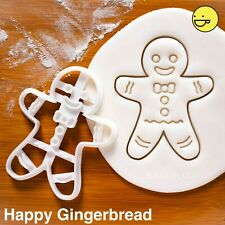 Happy Gingerbread Man cookie cutter | Christmas Easter Halloween Party biscuit
