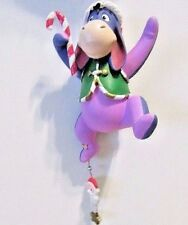 WINNIE THE POOH WALT DISNEY STORE EEYORE IN CHRISTMAS OUTFIT CANE ORNAMENT TAGS